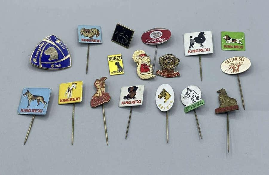 Vintage Police Dog Stick Pin Badge Collection Job Lot Dog Show Cruft