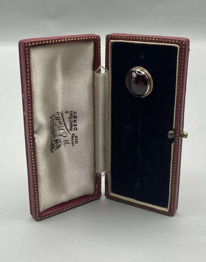 Antique 22ct Good Hallmarked Blood Red Garnet Stick Pin 3.72 Grams