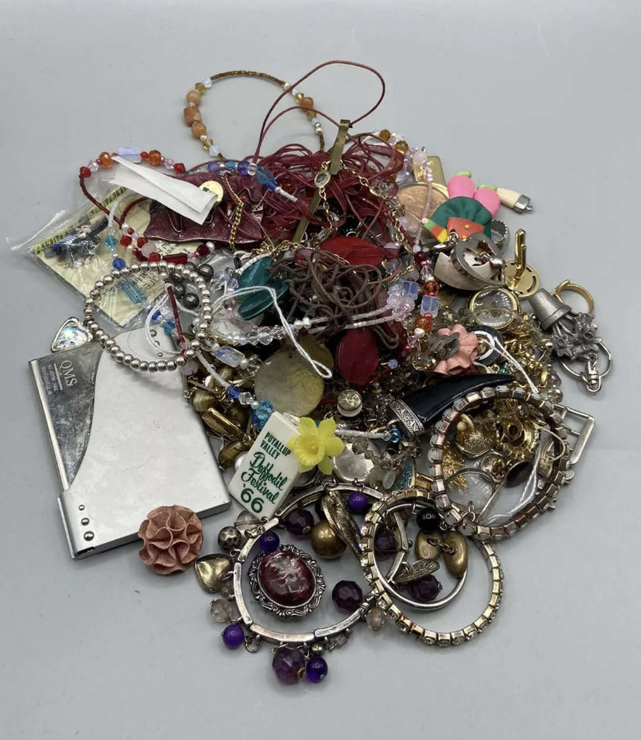 Vintage Costume Jewellery Brooches Necklaces Lot Daffodil 66 Festival