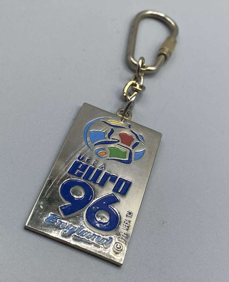 Vintage UEFA EURO 96 England 1994 UEFA TM Keyring