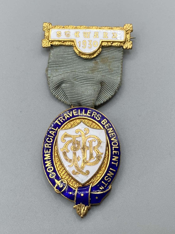 Antique1930 Commercial Travellers Benevolent Inst Steward Medal