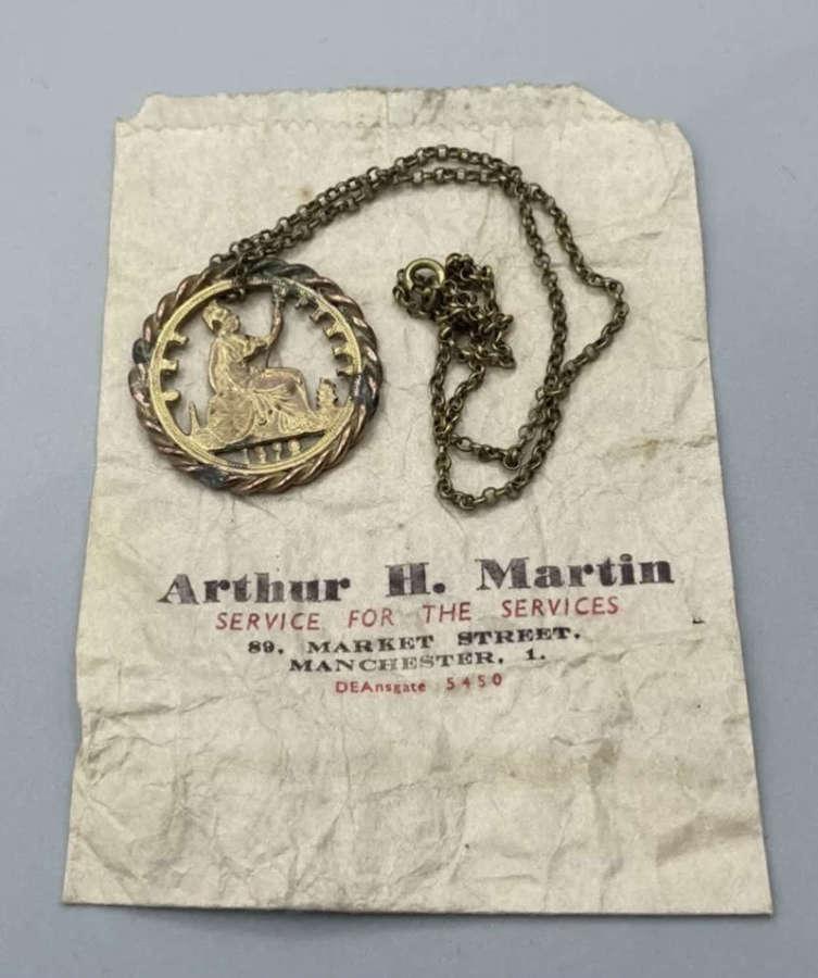 Boer War Queen Victorian 1890 One Penny Necklace & Bag