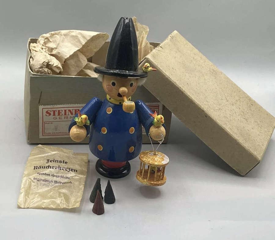 WW2 German Steinbach Volkskunst Incense Candle & Smoking Figure