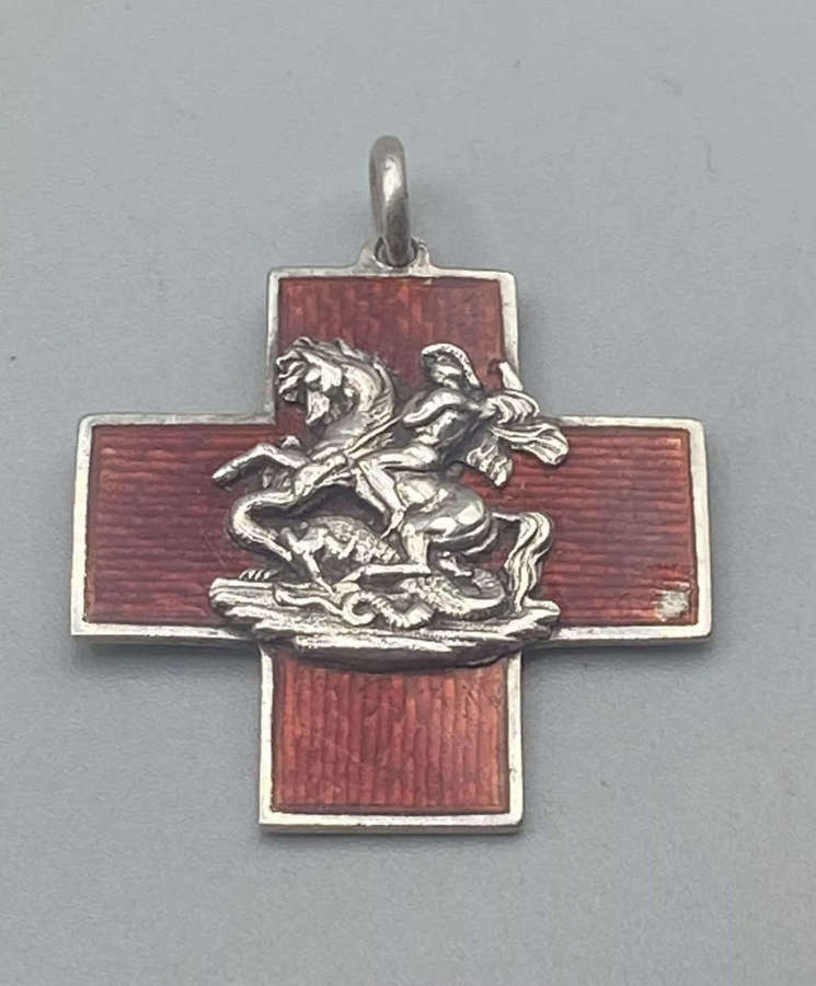 Victorian British Order Of St George Red Cross Chivalry Silver Medal