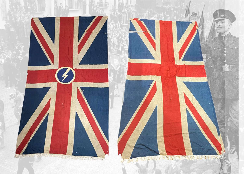 WW2 1940s Oswald Mosley, Holloway, B.U.F British Union Of Facist Flag