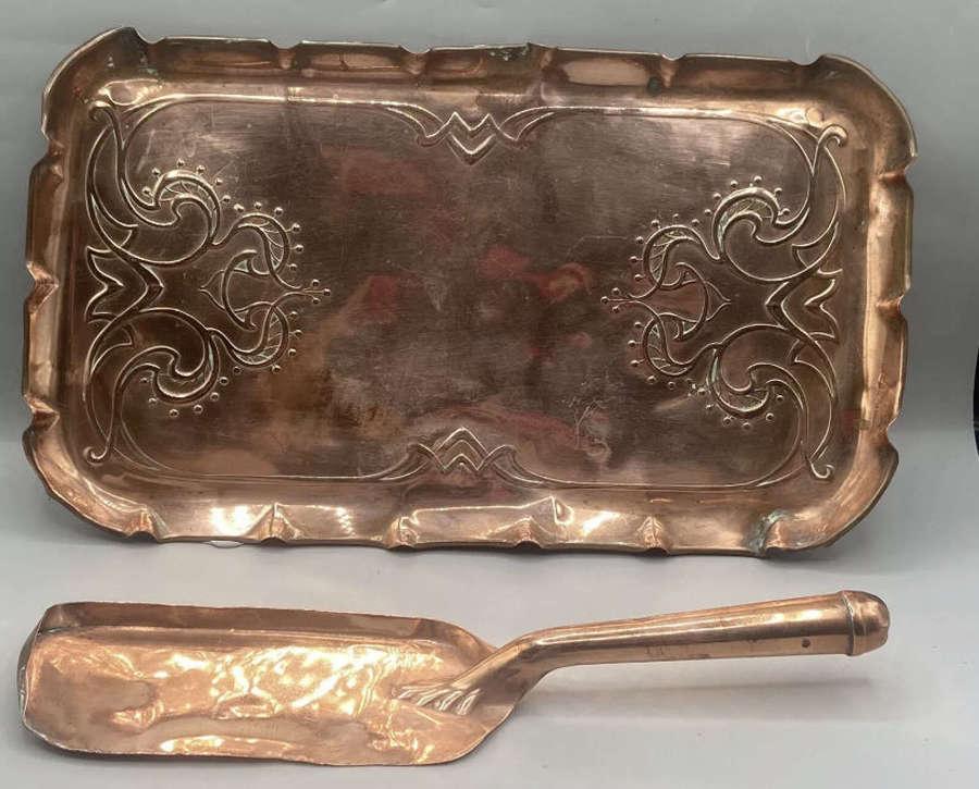 1850s Art Nouveau Joseph Sankey & Jones Bayliss Tray & Server