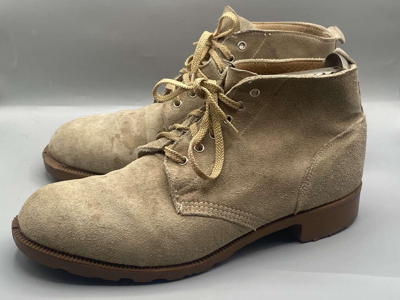 Vintage Suede British Army Issue Desert Nubuck Suede DMS Size 9 Boots