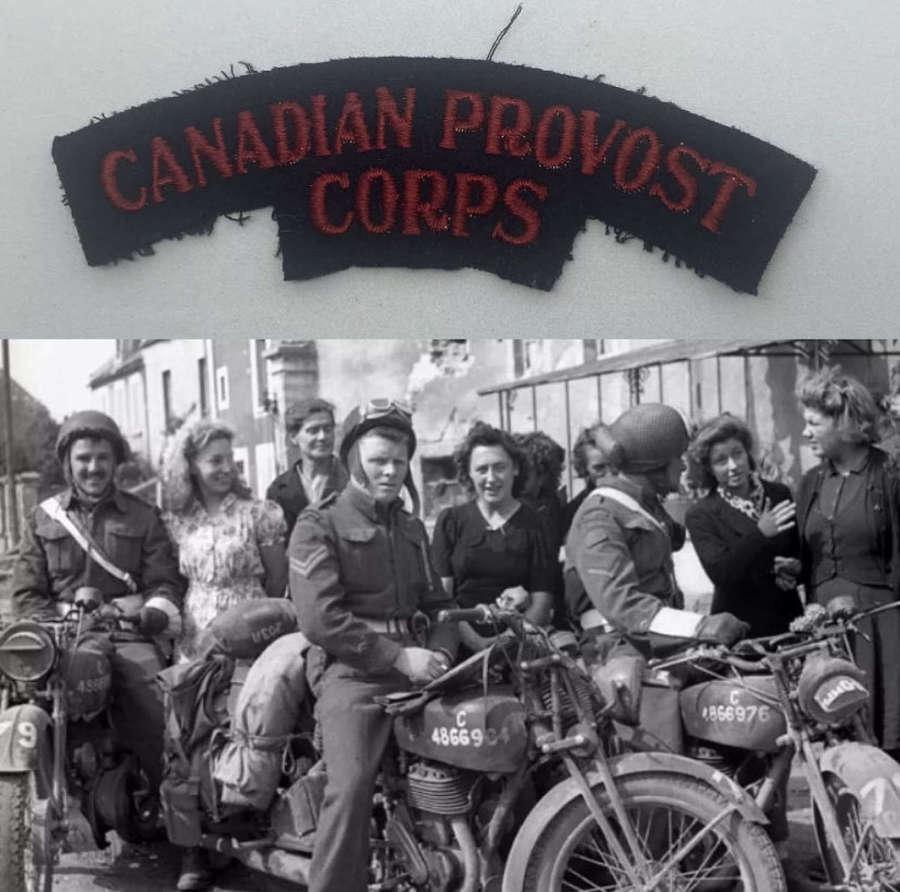 WW2 Canadian Provost Corps Shoulder Title: Roles MP & POW Movement
