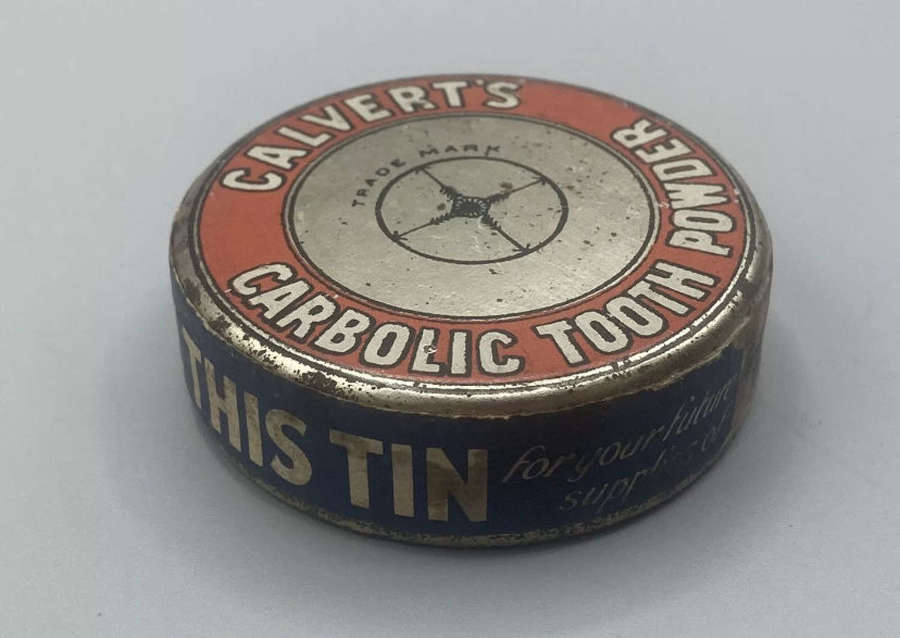 WW1 British Army & Home Front Unopened Calverts Carbolic Tooth Paste