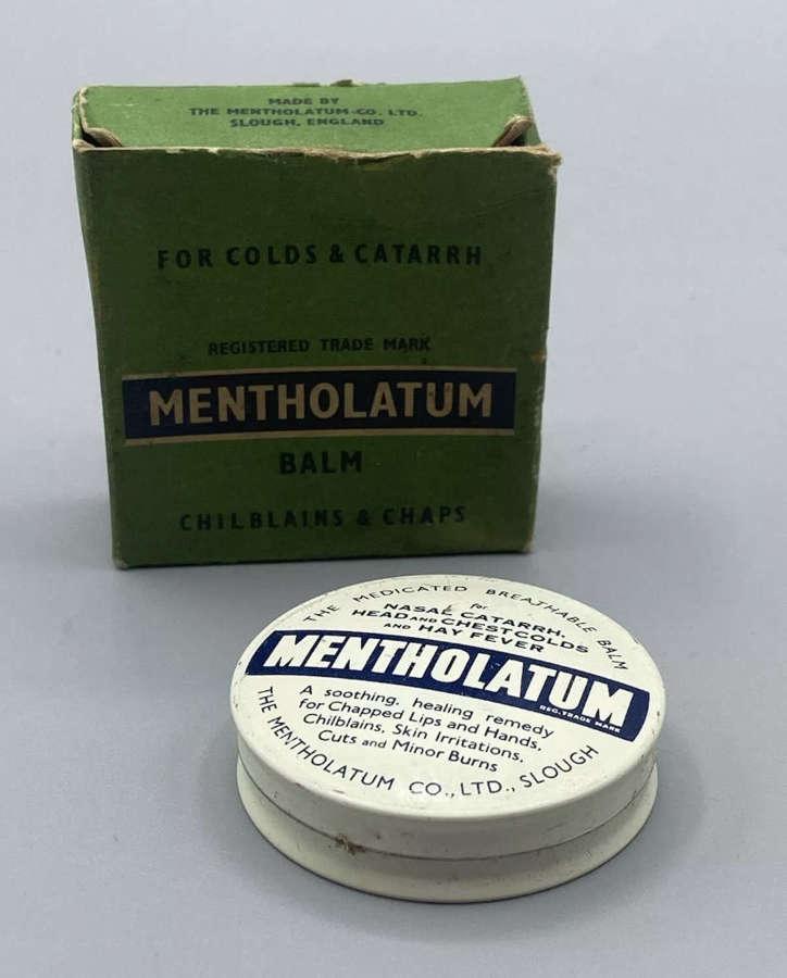 WW1 British Home Front Boxed Mentholatum & Tin & Breathable Balm